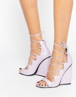 Spring Fashion Under $200 Asos white lace up wedge