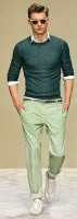 Men's Spring Wardrobe Essentials, men's spring outfit with fashion sneakers