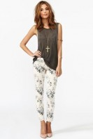 spring women's jeans, floral jeans