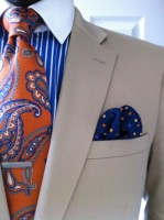 Men's Outfits Kentucky Derby Gold Cup, men's print tie and pocket square
