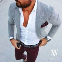 men's belt gray blazer gray belt
