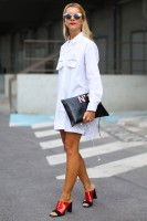 Spring's Top 5 Stylish Shoes, spring mules with white dress