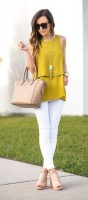 Spring's Stylish Updates, spring outfit with jewelry white jeans