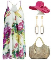 Gold Cup, Preakness, Kentucky Derby Looks, undeniable boutique floral dress, fuchsia hat