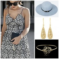 Gold Cup, Preakness, Kentucky Derby Looks, undeniable boutique white and black lace floral dress