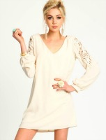 spring accessories, rose lace sleeve dress with duster earrings