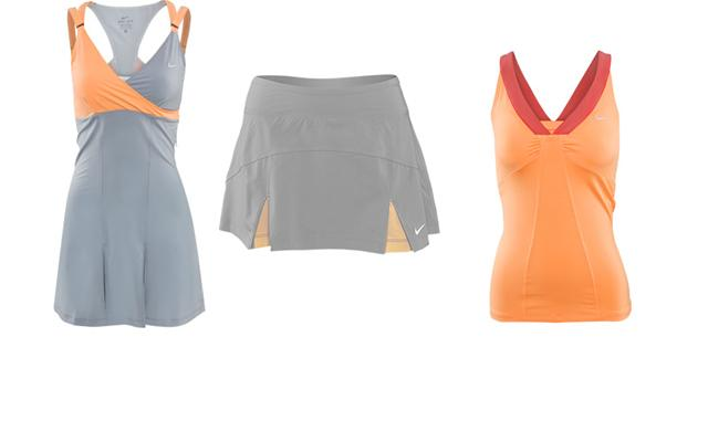 Sporty Chic Spring Sportswear, gray and peach tennis outfits
