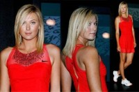 Sporty Chic Spring Sportswear, red tennis dress maria sharapova