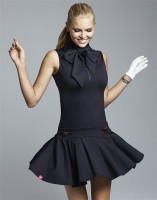 Sporty Chic Spring Sportswear, women's golf outfit black dress