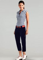 Sporty Chic Spring Sportswear, women's golf outfit navy and white