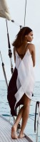 Nauti Nautical Style...black and white maxi dress
