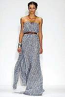 Nauti Nautical Style, blue and white print maxi dress new