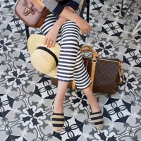 Espadrilles Summer 2016 Shoe, striped pants and striped espadrilles vacation style