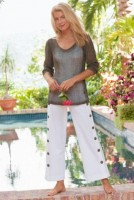 Nauti Nautical Style, white nautical pants