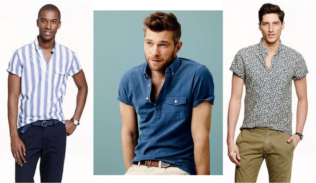 6 must haves men's summer style, men's popover shirts striped, chambray, and floral print