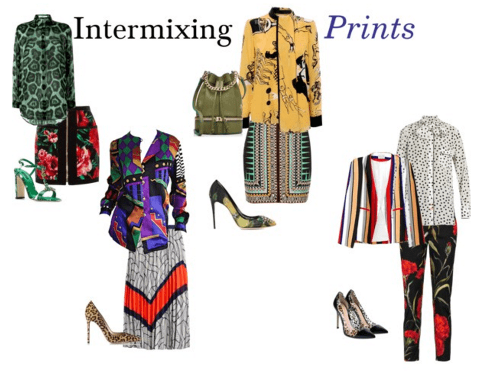 Intermixing prints for the office outfit ideas
