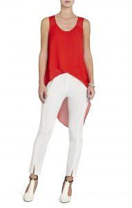 BCBG Mellie Assymetrical red top