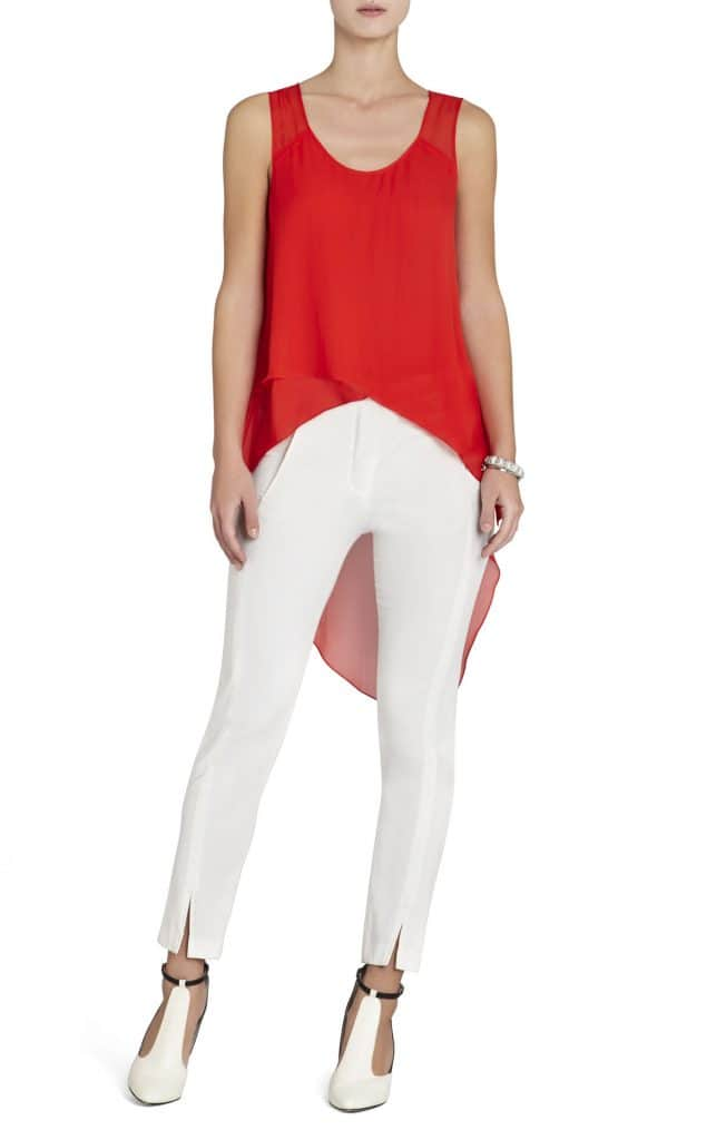 BCBG Mellie Assymetrical red top