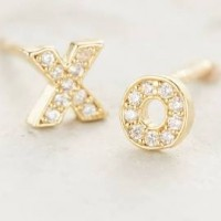 Valentine's Day gifts xo stud earrings
