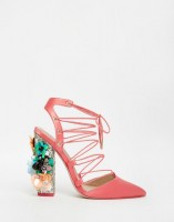 Spring Fashion Under $200 ASOS PRINCIPAL Lace Up Pointed Heels