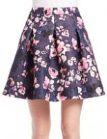 Spring Fashion Under $200 floral skirt blue and pink
