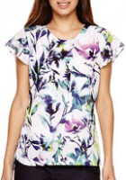 Spring Fashion Under $200 Liz Claiborne flutter sleeve floral top