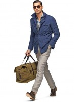 Spring's Freshest Fashion Gear For Men, men's blue field jacket