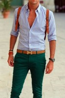 Spring's Freshest Fashion Gear For Men, men's green chino pants