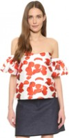 Spring Fashion Under $200 Renamed Red Petal off the shoulder top