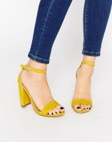 Spring Fashion Under $200 Steve Madden yellow block high heel