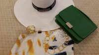Gold Cup, Preakness, Kentucky Derby Looks, Duchess M green clutch, gold jewelry, hat