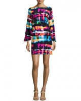 alice and trixi print flutter sleeve dress