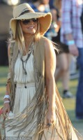 festival style fringe vest and dress, coachella fringe outfit