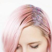 festival style glitter roots, Coachella hair
