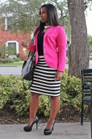 Inspiring Ways to Wear Spring Prints, full figure women wearing stripes