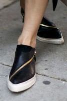 pointy toe, pointy toe black assymetrical zipper sneakers