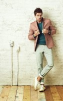 Sporty Styling Sport Coat, spring color sport coat, sneakers and color trousers