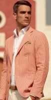 Sporty Styling Sport Coat, striped sport coat white shirt