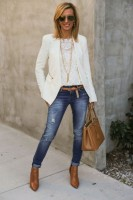 Spring's Stylish Updates, women's cuffed distressed denim