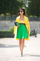 Spring Colors Brighten Looks, yellow and green dress