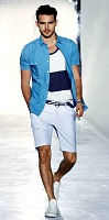 men's Style Mistakes, men's blue and white striped shirt over blue shirt