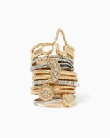 spring accessories, stackable midi rings