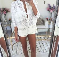 Flattering Shorts Body Type, all white shorts outfit