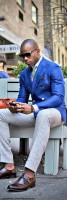 Top 5 Men's Summer Shoes, men's blue sport coat and gray pants