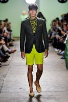 men's lime green shorts suit 200