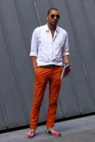 Top 5 Men's Summer Shoes, men's orange pants and espadrilles