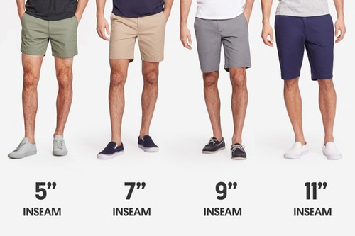 men's shorts lengths