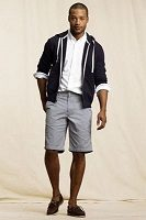men's shorts with navy hoodie and white button down 200