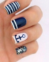 Nauti Nautical Style, nautical nail polish design