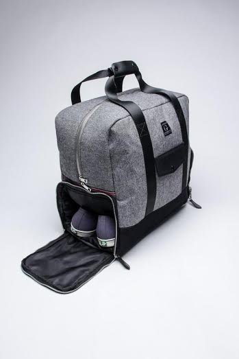 men's gray and black carry on luggage
